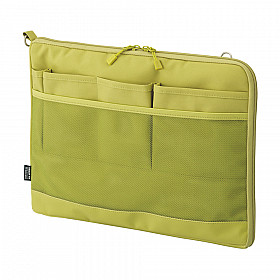 LIHIT LAB Smart Fit Bag in Bag - Horizontal Type - A4 Size - Green
