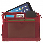 LIHIT LAB Smart Fit Bag in Bag - Horizontal Type - A4 Size - Red