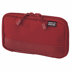LIHIT LAB Smart Fit Act Compact Pen Case - Red