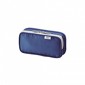 LIHIT LAB Smart Fit Double Pen Case - Small - Blue